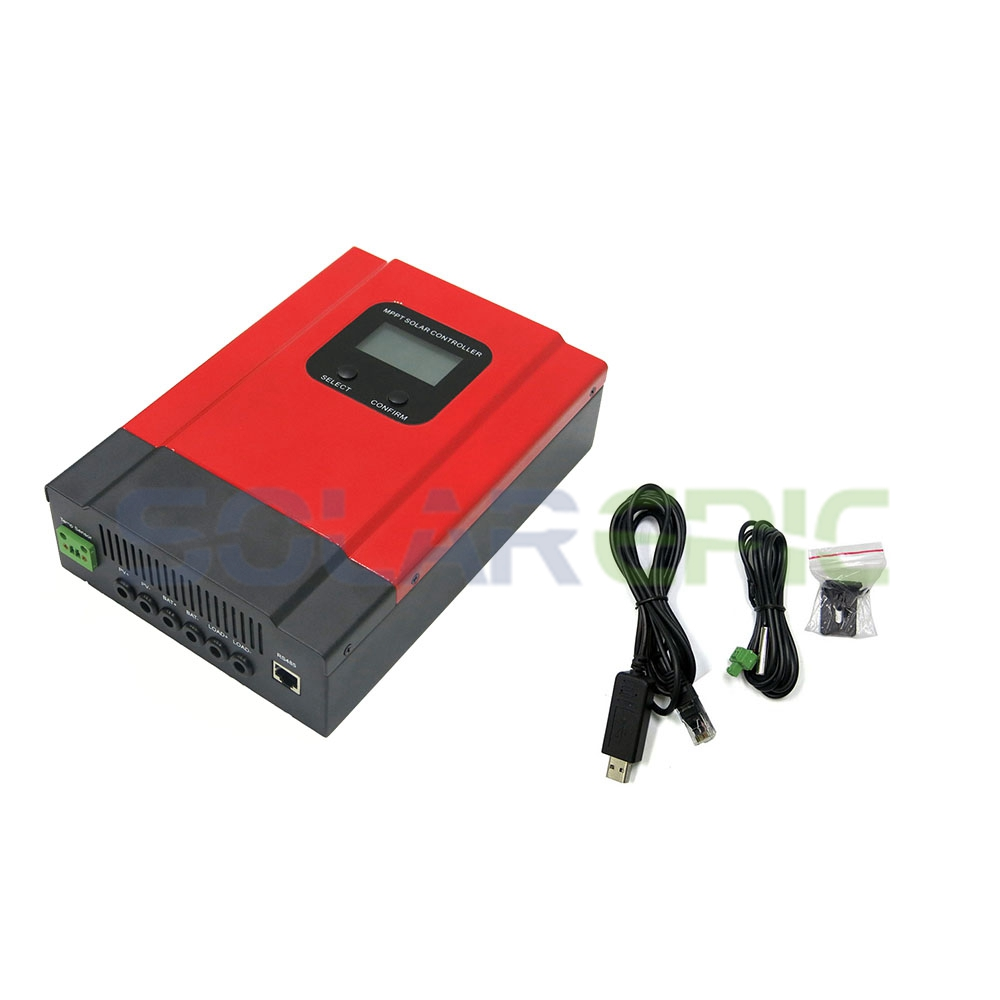 купить 40A MPPT Solar Charge Controller DC 12V/24V/36V/48V Auto Battery Charger Regulator CE Max PV Input 130V With LCD Display по цене 7371.53 рублей