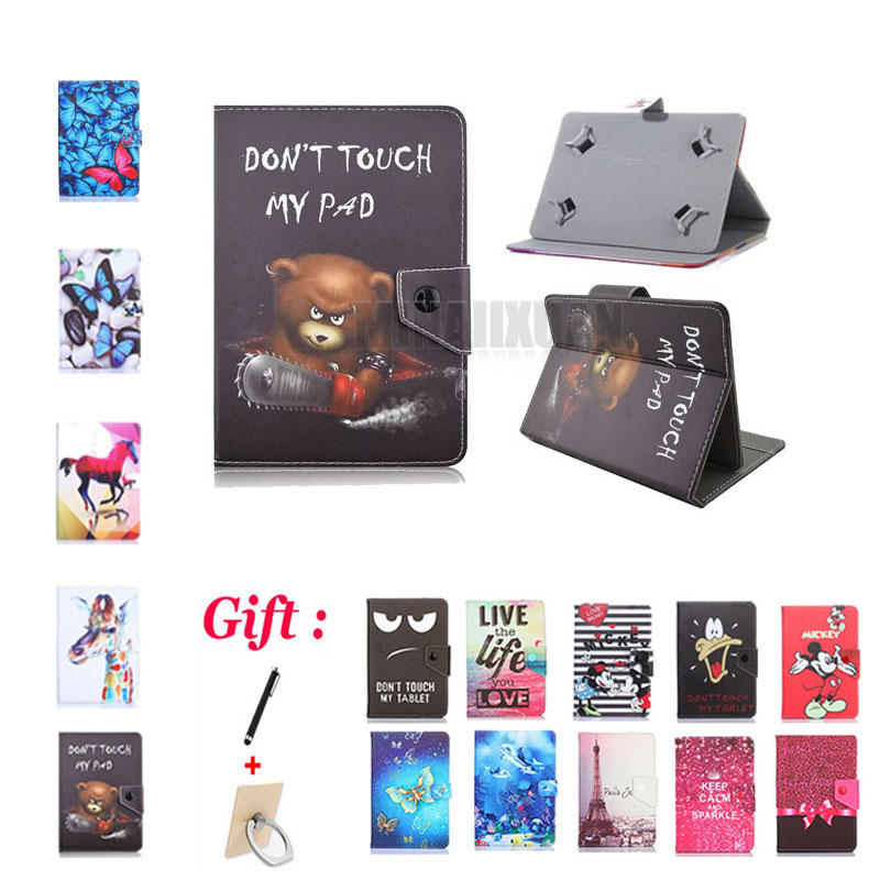 (No <font><b>camera</b></font> hole) Universal Cover for Prestigio MultiPad <font><b>Wize</b></font> 3308 3G PMT3308 8 inch Tablet Magnetic PU Leather Stand Case 2 GIFT image