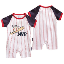 Summer Newborn Baby Sports Romper Basketball Crawling Clothes Cotton Clothing short sleeve Infant Kid boy Child Thin Jumpsuit
