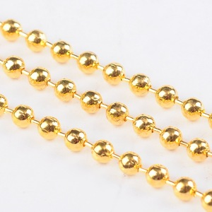 Image 4 - 2.4mm Iron Metal Ball Chains for Jewelry Making DIY Findings Accessory Come On Reel Bead: about 2.4mm diameter 100m/roll