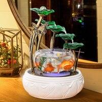 Аквариумный фонтан украшение дома керамический фонтан Настольный увлажнитель креативный подарок на день рождения