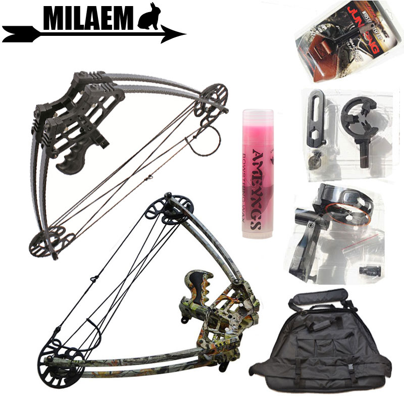 1Set 45lbs Archery Compound Bow Triangle Bow IBO270FPS Left Right Hand Hunting Shooting Accessories