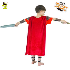 Image 3 - Honor Red Knight Costumes Kids Brave Warrior Leaders Role Play Sets with Cape Halloween Medieval Soldiers Cosplay Fancy Dress