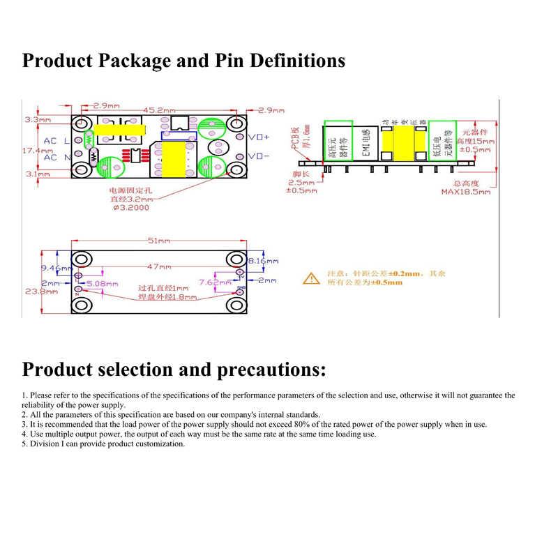 SANMIN AC220V à DC5V 1A 5 W module d'alimentation à découpage isolé 220 V à 5 V carte nue PLG06A5V X7756