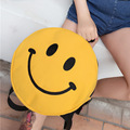 2016 new summer funny printing backpack women canvas backpacks for teenager girls smiling face bolsa femininas travel bags t89