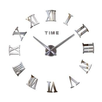 special offer 3d big acrylic mirror wall clock diy quartz watch still life clocks modern home decoration living room stickers 7
