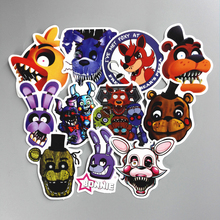 TD ZW 11 Pcs/lot Five Nights At Freddy Decal Sticker For Car Laptop Bicycle Notebook Backpack Waterproof Stickers Toy Stickers
