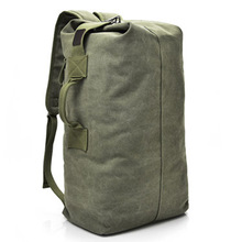Büyük kapasiteli seyahat tırmanma çantası taktik askeri sırt çantası kadın ordu çanta keten kova çantası omuz spor çantası erkek