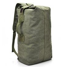 Große Kapazität Reise Klettern Tasche Taktische Militärische Rucksack Frauen Armee Taschen Leinwand Eimer Tasche Schulter Sporttasche Männlichen