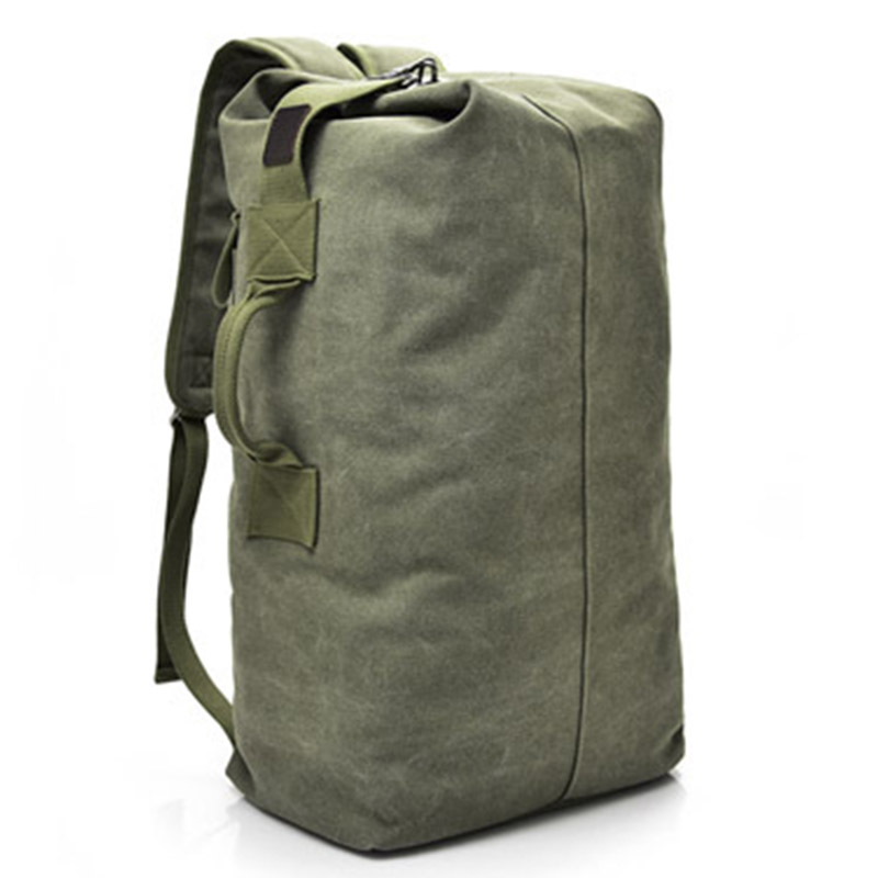 Image 5 - Large Capacity Travel Climbing Bag Tactical Military Backpack Women Army Bags Canvas Bucket Bag Shoulder Sports Bag MaleClimbing Bags   -