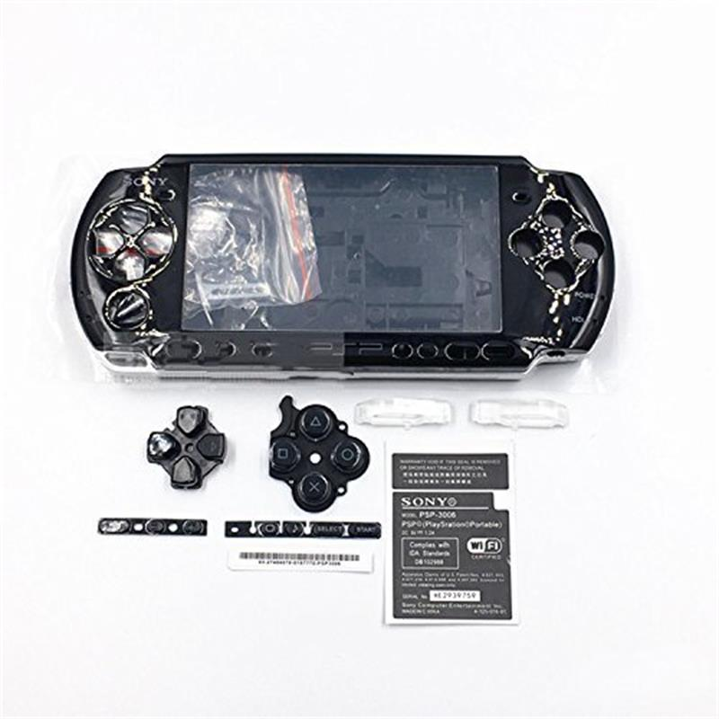 Full Housing Shell Case Cover Faceplate Set Repair Part Complete Fix Replacement for PSP 1000 2000 3000