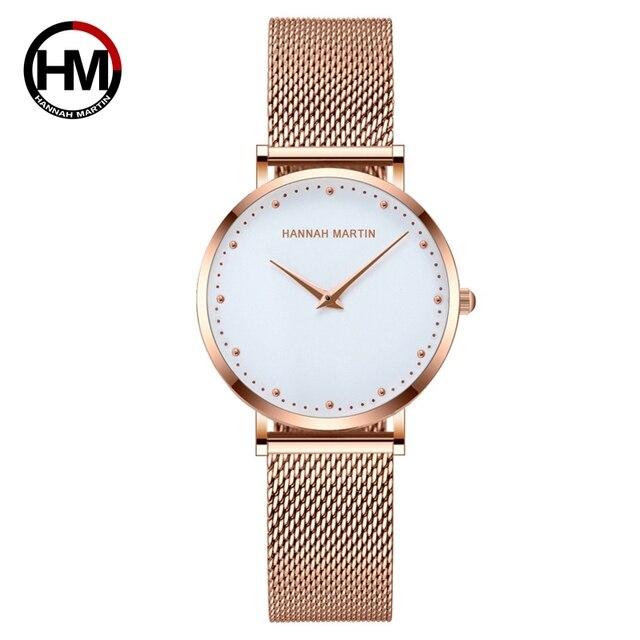 Women Watches Top Brand Luxury Japan Quartz Movement Stainless Steel Sliver White Dial Waterproof Wristwatches relogio feminino 1