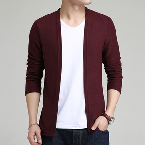 Image 3 - 2020 New Autumn Winter Brand Clothing Sweater Men Fashion Solid Color Slim Fit Cardigan Men Open Stitch Knitted Sweater Men