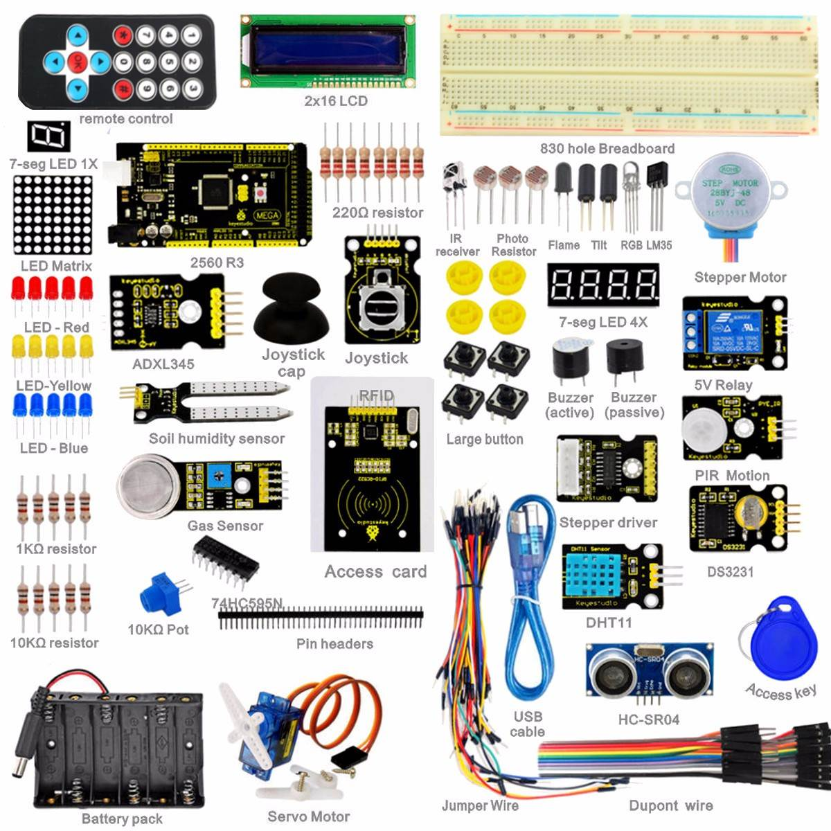 2018 New Super Electric Stocks 2560 Starter Kit For Arduino 1602lcd Basic Concept Of Relay Pdf Rfid Motor Buzzer In Electronics From Electronic Components Supplies On