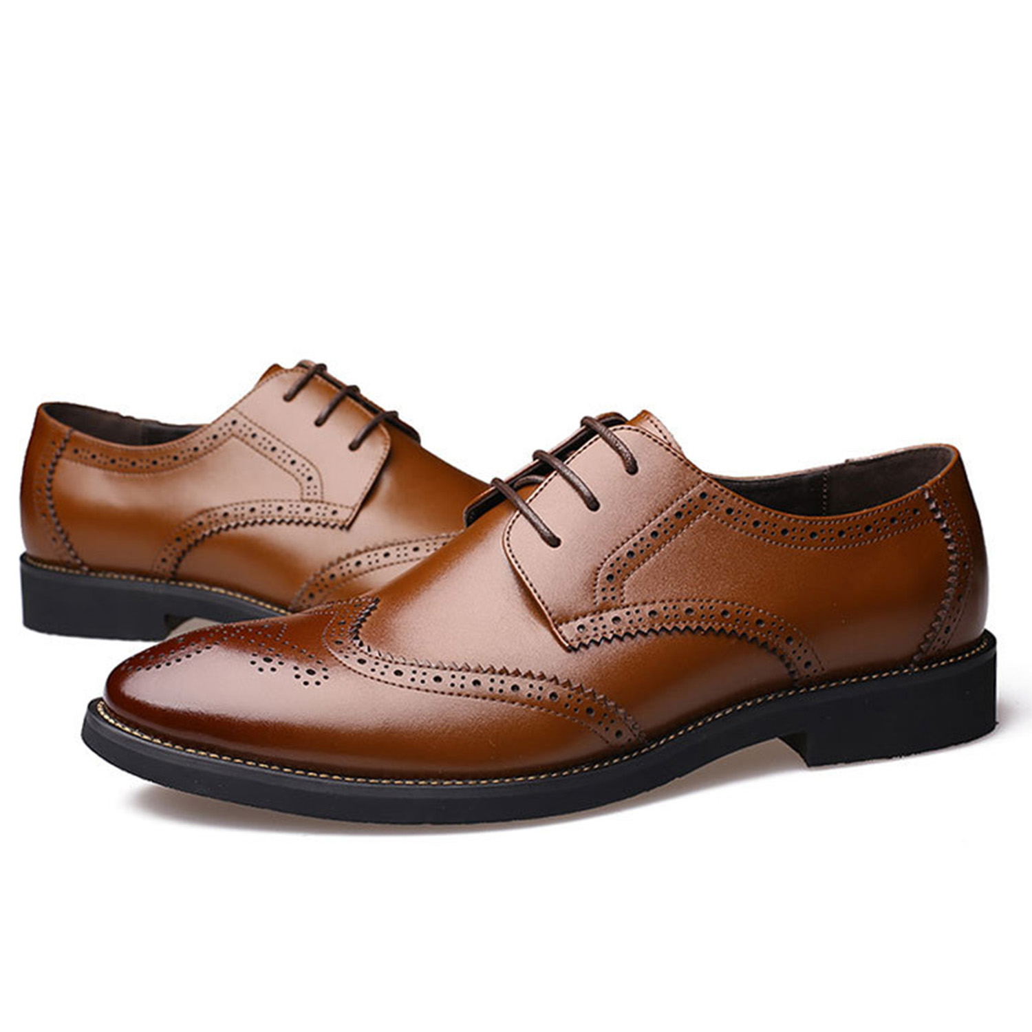 Luxury Design Oxford Business Men Shoes Genuine Leather High Quality - Men's Shoes - Photo 3