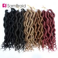 Sambraid Crochet Hair Braiding Goddess Crochet Hair Braids With  Faux Locs Curly  Pure Color Twist Synthetic Hair Extensions