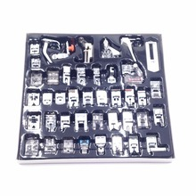 CAMMITEVER 42pcs/set Sewing Knitting Domestic Machine Blind Stitch Darning Presser Foot Feet Kit Set Edge Joining Babylock
