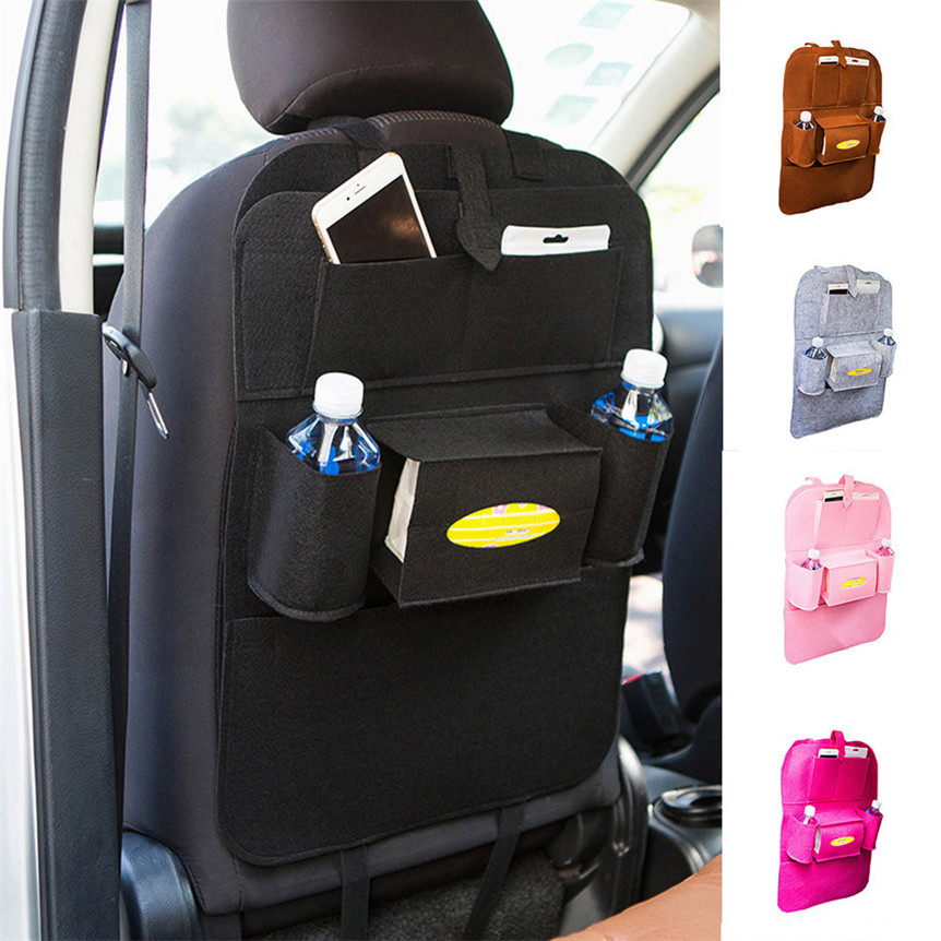 Universal Car Auto Seat Back Protector Cover For Children Kick Mat auto car storage bag car seat multi pocket travel