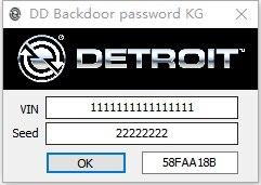 Detroit diesel Backdoor генератор паролей 2018