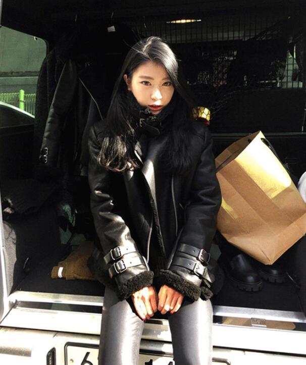 Pu Automne Zipper Hiver De Chaud Veste Fourrure Black En Femmes High Rue Imitation Outwear Épaissir New P594 Fashion Cuir Casual rr6wqd01