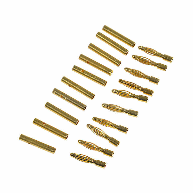 10 пар 2,0 мм-2 мм золото типа Пуля банан разъем для DIY RC батареи ESC двигателя