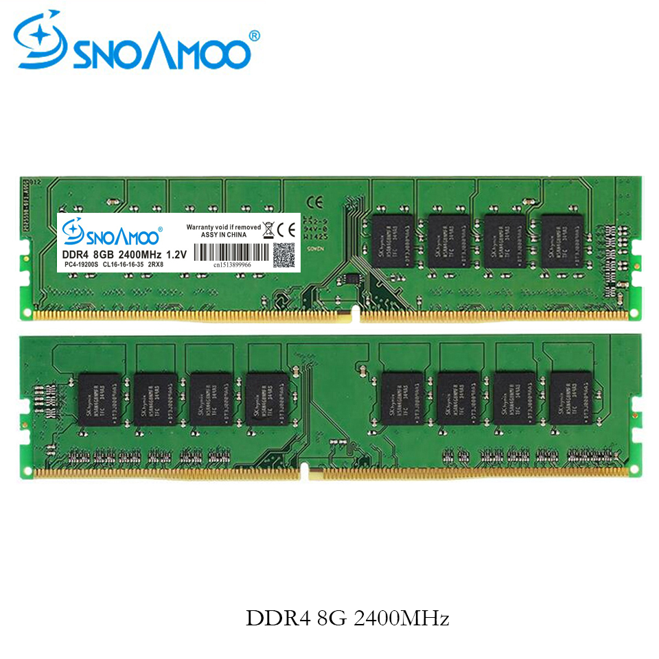 SNOAMOO DDR4 RAM Desktop PC Memory 4GB 8GB 2133 2400MHz CL15 PC4-17000S 288 Pin DIMM For Intel Stick Computer Lifetime Warranty image