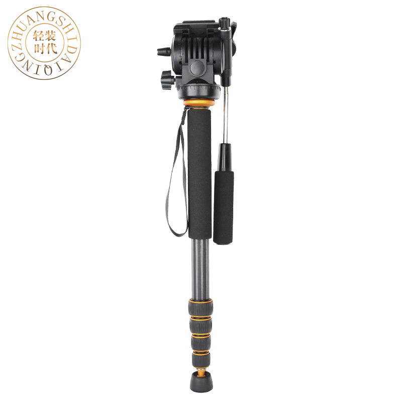 QZSD Carbon Fiber Q-188C Monopod Professional Portable l Camera Tripod For SLR Photography Handle Ball Head DHL Free Shipping sirui a 1205 a1205 tripod professional carbon fiber flexible monopod for camera with y11 ball head 5 section free shipping