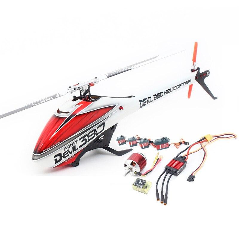 ALZRC Diable 380 RAPIDE RC Hélicoptère Drone Super Combo Avec 1.2mm En Fiber De Carbone Cadre Composé De 5mm Broche Arbre 8mm Principal arbre