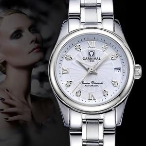 Image 5 - Carnival Women Watches Luxury Brand ladies Automatic Mechanical Watch Women Sapphire Waterproof relogio feminino C 8830 4