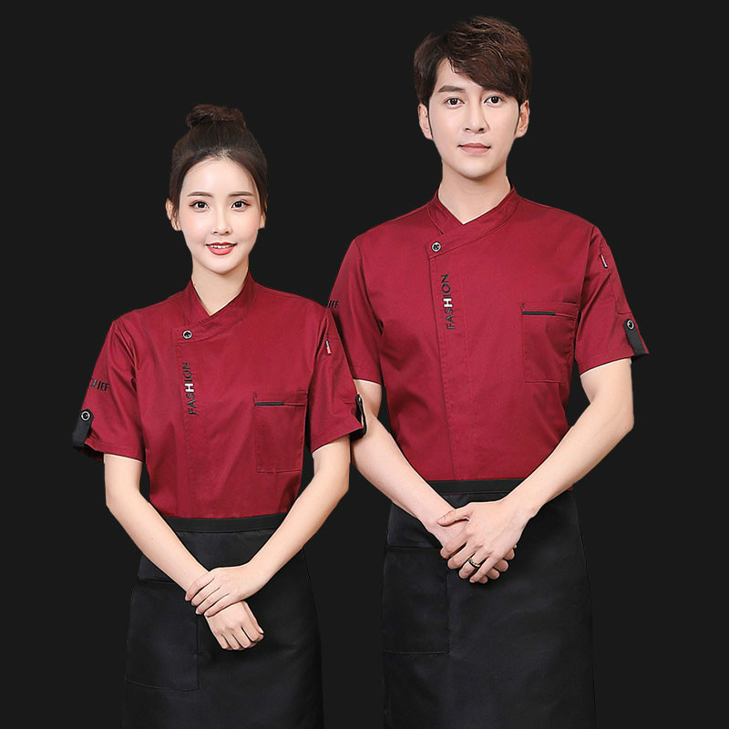 Image 2 - Unisex Chef Uniform Food Service Cook Jacket Long /Short Sleeve Kitchen Work Clothes Pastry Bakery Restaurant Cooking Overalls-in Chef Jackets from Novelty & Special Use