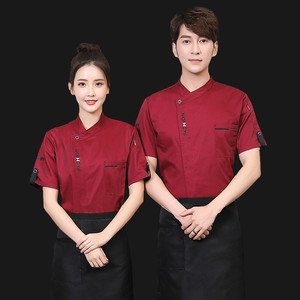 Image 2 - Unisex Chef Uniform Food Service Cook Jacket Long /Short Sleeve Kitchen Work Clothes Pastry Bakery Restaurant Cooking Overalls
