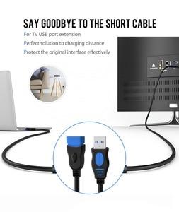 Image 3 - VOXLINK 5 paket USB 2.0 uzatma kablosu PC Laptop için erkek kadın USB şarj Sync veri uzatma kablosu 1M 1.8M 3M 5M