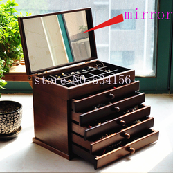 Upgraded version Wood Jewelry Box Storage Gift Display Box Jewelry Lagre Gift Box  Packaging casket  marriage gift   box