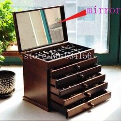Version améliorée boîte à bijoux en bois boîte de rangement cadeau présentoir bijoux Lagre boîte-cadeau emballage cercueil mariage boîte-cadeau