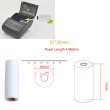 5pcs 80x30MM Thermal Receipt Paper Roll for Mobile POS 58mm Thermal Printer