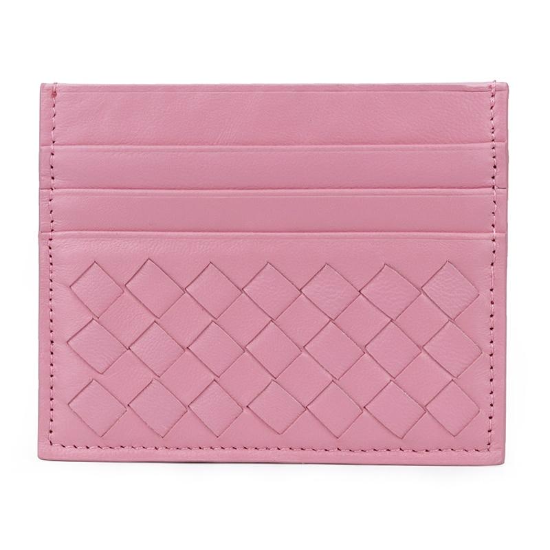 新着羊皮超薄型カード財布保証ホットブランドデザイナーユニセックス本革高品質