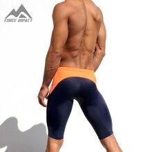 Мода Sexy Тощий Slim Fit мужские Узкие Шорты Эластичный Пояс Фитнес-Тренировки Шорты Xman Мышцы Стволы для Мужчин AQ12