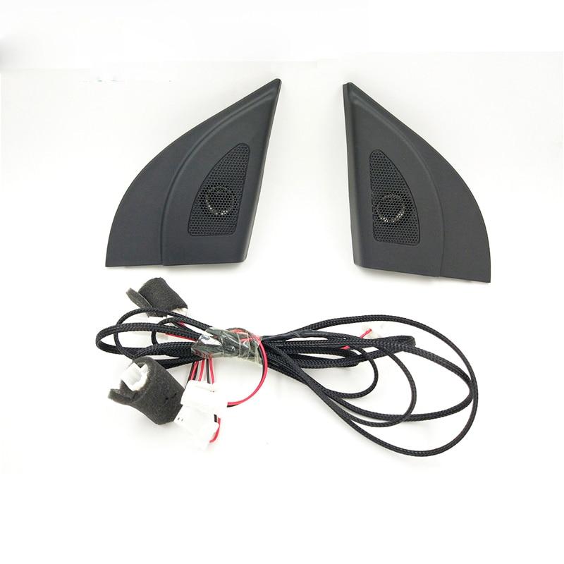 Автомобильный твитер для Hyundai Solaris 2011-2016, черный автомобильный динамик с треугольной головкой, твитер, динамики-трубы с проводом