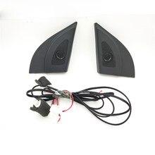 Para hyundai solaris 2011-2016 tweeter de áudio do carro auto preto triângulo cabeça alto falantes tweeter trompete tweeter com fio