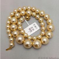 925 silver real natural big South Korea Kim Nanyang pearl necklace female golden circle 8 16mm water tower is a pearl to send hi