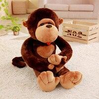 MIAOOWA 1PC 80CM Big Size Monkey Gibbon Doll Plush Toys Cute Monkey Plush Doll Animal Gorilla Doll Kids Children Birthday Gifts