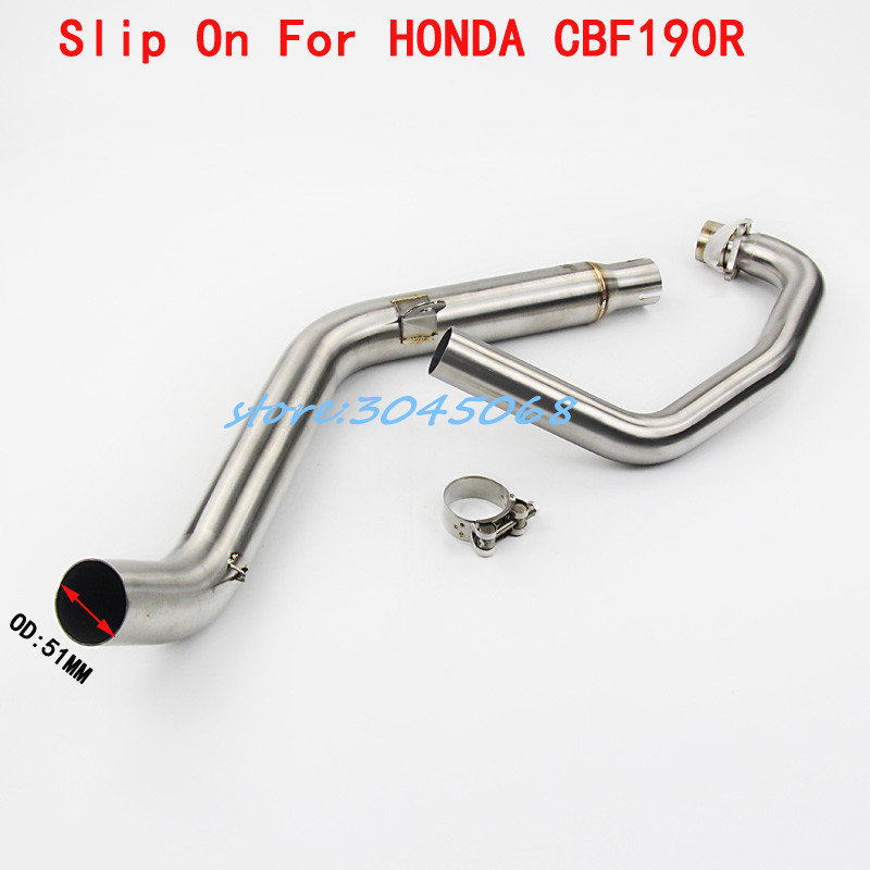 Modified Motorcycle Exhaust Front Middle Link Pipe Full System Exhaust Muffler For HONDA CBF190 CBF190R CB190R Without Exhaust free shipping motorcycle brake pads for honda wh150 2 wh150 3 cbf190r wh150 3a cb190r wh150 11 wh150