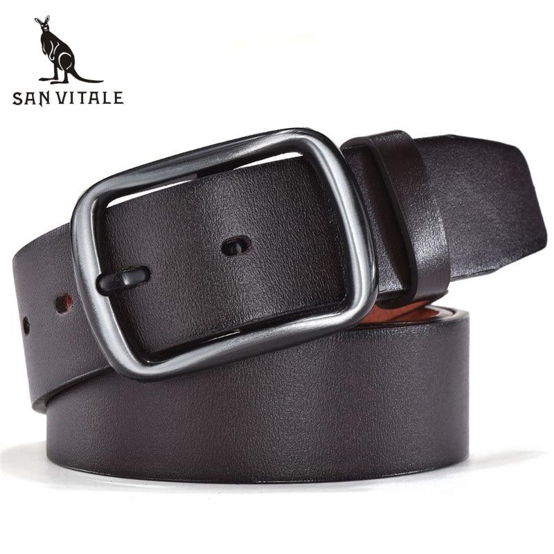 Men's Belt Belts Pu Leather Suspenders Waistband Cinturones De Hombres Luxury Brand Slim Ratchet Reversible Buckle High Quality