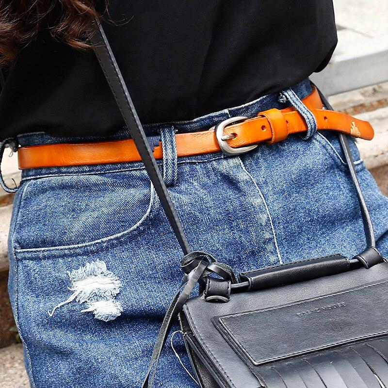 CATELLES Genuine Leather Belt  For Women Handmade Strap Dress Designer Female Belts Woman Girls Fashion Casual Accessories