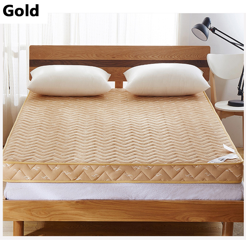 2016 New Style Fashion Gold/Blue Thick Warm Single Or Double Student Children Guesthouse  Hotels  Mattress Bedding single sided blue ccs foam pad by presta