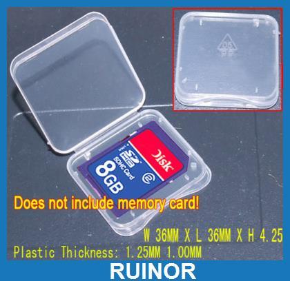 купить 500pcs 16g 8GB SD MMC Memory Card Cases Protection Boxs недорого
