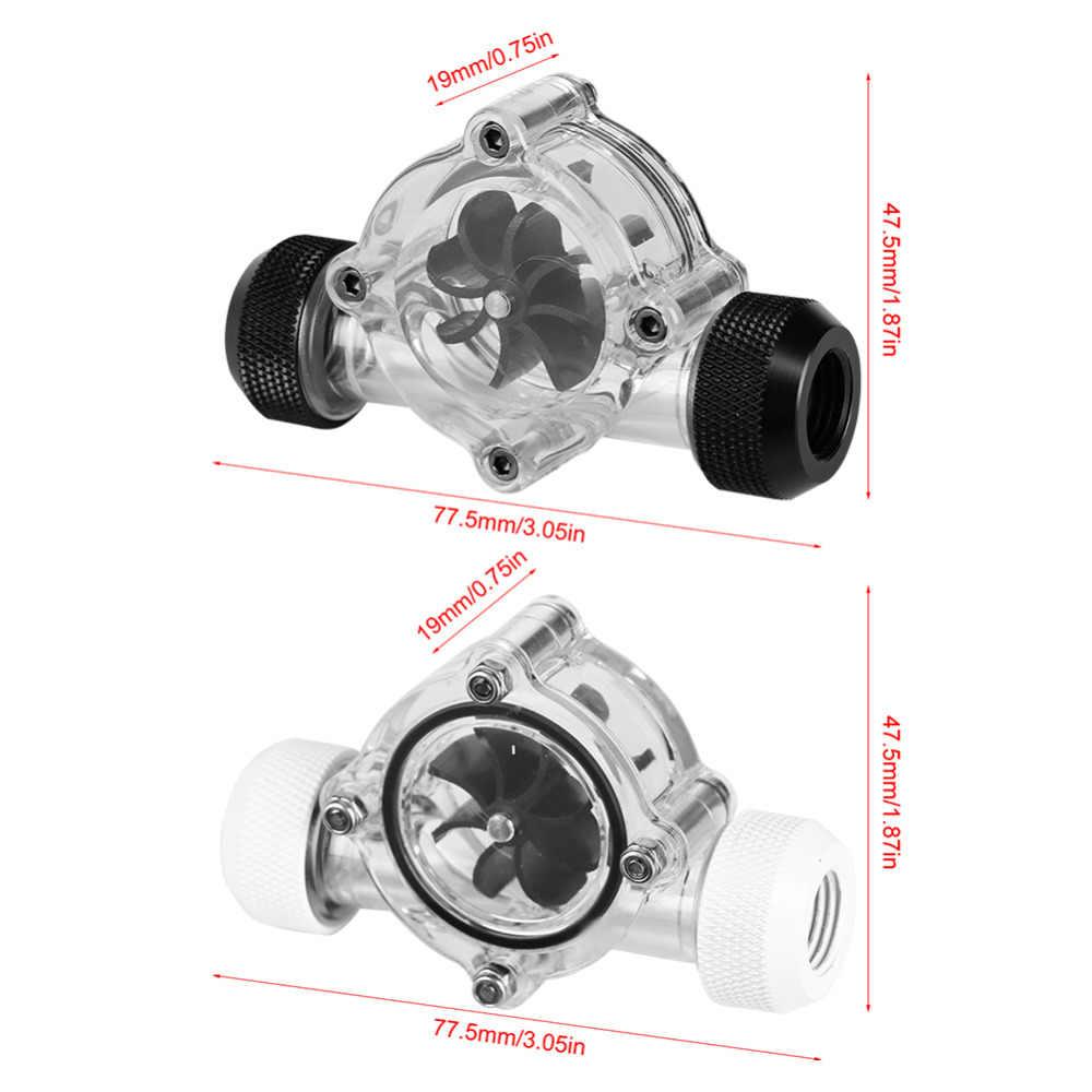 G1/4 резьбовой порт мама-мама индикатор расхода для ПК водяного охлаждения 8 крыльчаток для ПК система водяного охлаждения