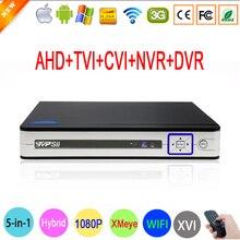 1080P 2MP Surveillance Camera Hi3521A Silver White 16 Channel 16CH 5 in 1 WIFI Hybrid CVI TVI IP NVR AHD CCTV DVR Free shipping