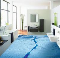 3d zemin boyama duvar kağıdı 3D buz banyo odası zemin 3d banyo duvar kağıdı su geçirmez 3d döşeme
