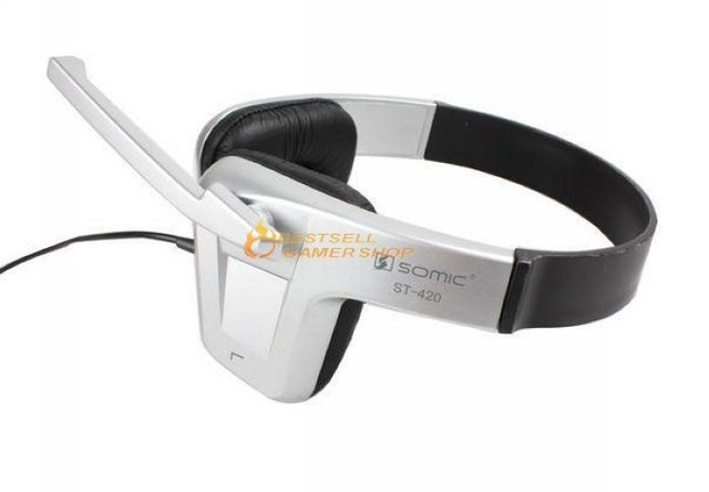 Somic ST-421/ST421 3.5MM mp3/computer Stereo earphone Headphone headset with Mic Fast & Free shipping
